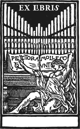 Ex Libris Orgel Stempel